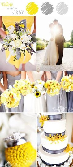 elegant yellow and gray wedding colors for summer 2015 yellow wedding ideas 7 Perfect Yellow Wedding Color Combination Ideas to Have Elegant Wedding Colors, Yellow Wedding Colors, Yellow Grey Weddings, Summer Wedding Colors, Gray Weddings, Spring Wedding, Dream Wedding, Trendy Wedding, Perfect Wedding