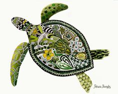Twisted Turtle by PaintTropics on Etsy