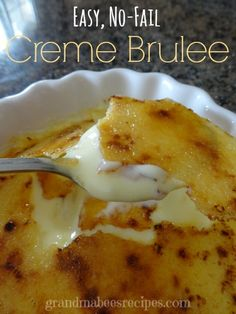 "This ""Mock"" Creme Brulee is absolutely delicious!"