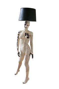 COCO Chanel Inspired Mannequin lamp by hardheaddesigns on Etsy, $2100.00