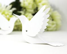 Hummingbird Place Cards - Wedding Escort Cards / Bird Name Cards / Table Tents - Unique - Set of 20 Blank via Etsy