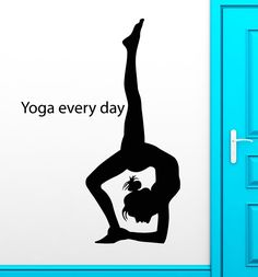 Yoga Wall Stickers Mediation Gymnastics Sport Buddhism Vinyl Decal free shipping