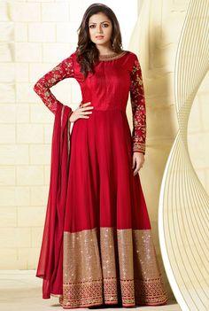 Drashti Dhami Venetian Red #Anarkali #Suit