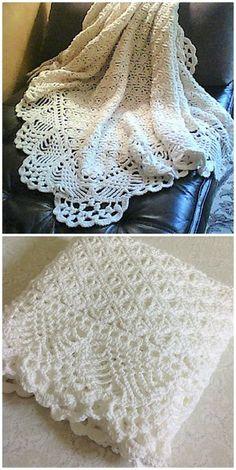 Crochet Baby Shawl, Crochet Baby Blanket Free Pattern, Crochet Baby Clothes, Crochet Lace, Crochet Stitches, Crochet Baby Blankets, Baby Afghan Patterns, Best Baby Blankets, Crotchet Patterns