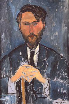 Modigliani. Portrait de_Zborowski. Celui-ci a été l'un des premiers admirateurs de Modigliani et a su très tôt reconnaître son génie.