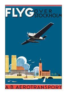 Stockholm Sweden Travel Poster 11x17 Print