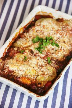 Gratin de courgettes à la tomate et à la menthe