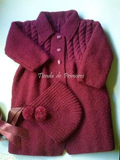 Tejido Mano - Vestuario Y Calzado - Merc - Diy Crafts - Marecipe Sweater Knitting Patterns, Knitting Designs, Baby Sweaters, Girls Sweaters, Diy Crafts Knitting, Baby Girl Jackets, Toddler Sweater, Crochet Baby Clothes, Knitted Coat