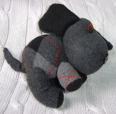 little black teapot: Single Sock Dog Tutorial