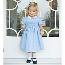 Buy Mini La Mode Baby Belle Dress with Knickers, Blue from our Baby & Toddler Dresses & Skirts range at John Lewis & Partners. Toddler Girl Outfits, Baby Girl Dresses, Toddler Dress, Flower Girl Dresses, Peter Pan Collar Dress, Belle Dress, Dress Skirt, Dressing, Baby Style