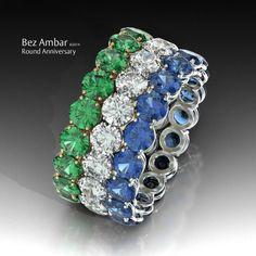 Round eternity bands #diamondjewelry  www.bezambar.com
