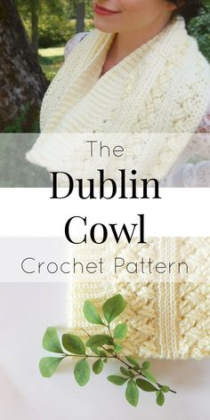 Cowl Crochet Pattern that is trendy and stylish! This is for the intermediate crochet artist and uses the Celtic Weave/Diagonal Weave stitch. It has amazing texture and has a lovely drape so you will wear it all the time! Repin for later!