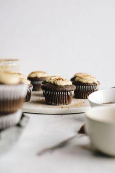 Espresso Cupcakes With Tahini Icing
