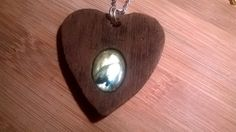 Ouija planchette with real labradorite, handmade polymer clay necklace made in Sculpey Soufflé by Sergent Guimauve