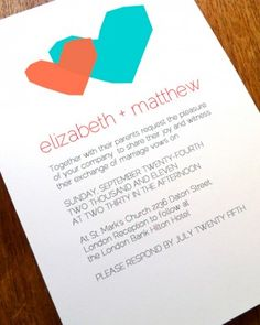 "See the ""Heart Motif Invitation"" in our  gallery"