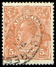 Blue Moon Philatelic Stamp Store - Australia 75 Stamp King George V Stamp AUS 75-1 USED, $9.75 (http://www.bmastamps2.com/stamps/australian-stamps/australia-75-stamp-king-george-v-stamp-aus-75-1-used/)