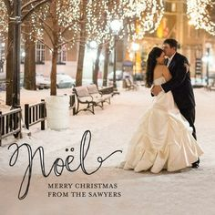 Nostalgic Noel - #Christmas Cards feature a beautiful Noel script.