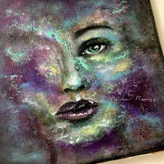 ME, BEYOND MYSELF  Abstract Portrait Painting – Mixed Media Art Tutorials
