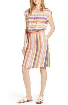 Looking for Caslon Stripe Linen Dress (Regular & Petite) ? Check out our picks for the Caslon Stripe Linen Dress (Regular & Petite) from the popular stores - all in one. Fashion For Petite Women, Womens Fashion, Floral Skater Dress, Nursing Dress, Ruched Dress, Striped Linen, Linen Dresses, Fit Flare Dress, Women's Fashion Dresses