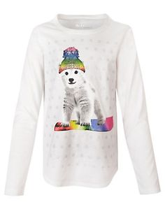 Hanes Girls' Long-Sleeve Tee with Graphic | 27957