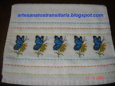 ARTESANATOS  TRANSITÓRIA: borboletas no ponto cruz