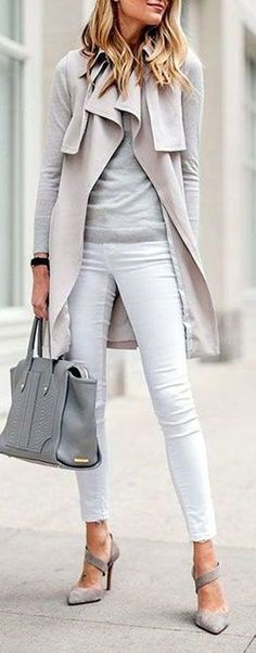 #fall #fashion / gray coat