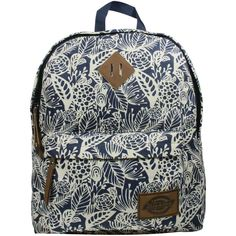 Dickies Printed Classic Canvas Backpack with Front Zip Pocket - Navy... ($25) ❤ liked on Polyvore featuring bags, backpacks, blue dusk, rucksack bag, blue canvas bag, dickies bag, navy blue bag and dickies backpack