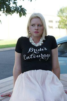 Bride's Entourage V-Neck Tee Shirt. Bridal Entourage Shirt. Bridesmaid tee. V-Neck Bridal Party T-Shirt. Vintage Theme Wedding Shirts.