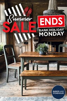 Our sunsational Summer Sale is ending!   Hurry! Shop now for up to 25% off across a wide range of divine dining sets.