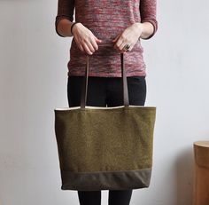 wool + wax bag