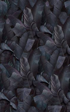 Botany Tropical Deep Indigo - décorer avec un papier peint - Photowall Unique Wallpaper, Green Wallpaper, Perfect Wallpaper, Custom Wallpaper, Photo Wallpaper, Wall Wallpaper, Designer Wallpaper, Deep, Indigo