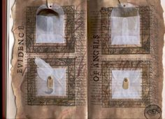 Evidence of Angels: altered book spread