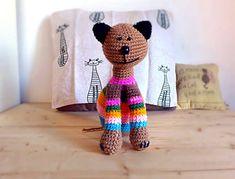 Crochet amigurumi cat funny and decorative by Hookloopsarah