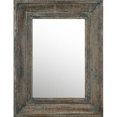 Hang this artfully distressed wall mirror in the entryway for a touch of antiqued appeal, or center it over your dresser to create a rustic vanity. ...
