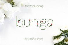 Bunga font by Aan Kurniawan on @creativemarket
