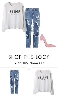 """Untitled #2573"" by ana-bieber ❤ liked on Polyvore featuring One Teaspoon and Christian Louboutin"