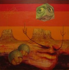 Desert Dali Oil and acrylic on canvas 40 x 40 in. http://www.markliamsmith.com/painting/desertdali