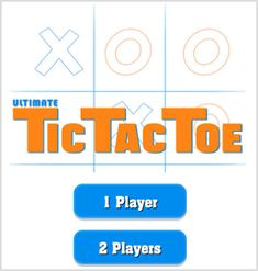 One or Two Player Tic Tac Toe Game
