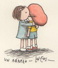 Liniers saluda a Tute por la muerte de su padre, Caloi. Tres grandes! Mayo 2012