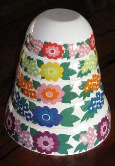 5 Nesting Bowls Arabia Finel Enamelware Kaj Franck Very RARE Set 1960s Mod | eBay