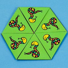 Make out of yarn or fabric! Use for cushions in classroom!  Hexa-hexaflexagon with