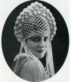 Модель в кокошнике. Париж. 1925 г.-the model in Kokoshnik. Paris