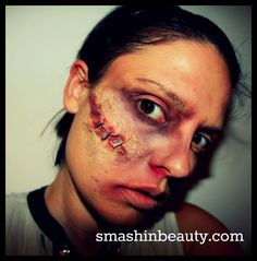 Halloween Makeup 2012 Latex Scars DIY tutorial