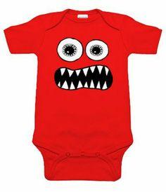 Body bébé fun pour les bébés rigolos : body bébé rouge manches courtes #bodybebefun #gaspardetzoe