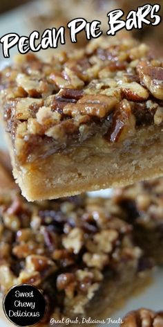 Pecan Desserts, Pecan Recipes, Chocolate Recipes, Just Desserts, Cookie Recipes, Delicious Desserts, Chocolate Tarts, Desserts With Pecans, Pecan Bars