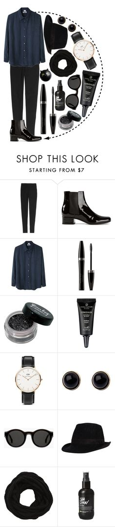 """dark circle"" by ines-armandine ❤ liked on Polyvore featuring Theory, Yves Saint Laurent, Acne Studios, Mary Kay, Daniel Wellington, Adele Marie, Mykita, VILA, Pier 1 Imports and chelseaboot"