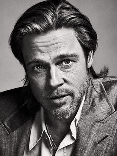 Portrait of Brad Pitt, by Sebastian Kim, 2012 Brad Pitt, Best Portraits, Celebrity Portraits, Photo Portrait, Portrait Photography, Man Portrait, Black And White Portraits, Black And White Photography, Sebastian Kim