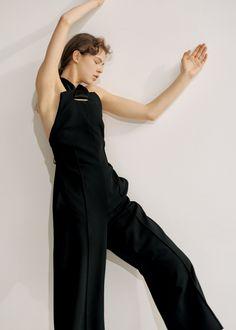 ユニフォームは黒 by ティファニー・ゴドイ - ファッション特集 | SPUR Jumpsuit, Black, Dresses, Fashion, Overalls, Vestidos, Moda, Black People, Fashion Styles