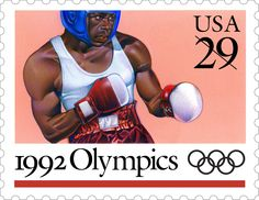This Boxing stamp is one of five Olympic Games stamps issued in 1992.