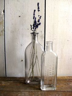 kitchen - standing on the counter, always empty of water and filled with branches of lavender